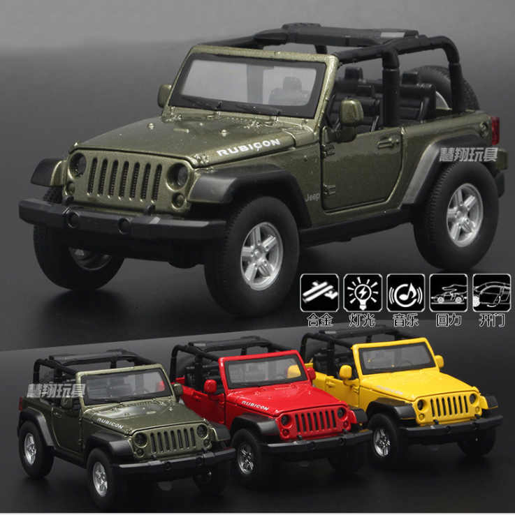 New 1:32 Jeep Wrangler Rubicon SUV Alloy Diecast Toy Vehicle Car Model Die Cast Metal Car Collection Kids Gift Free Shippinmg