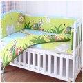 Promoción! 6 unids lavable sistema del lecho del bebé bebe jogo de cama cuna cuna ropa de cama ( bumpers + hojas + almohada cubre )