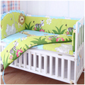 Promotion! 6pcs washable baby bedding set bebe jogo de cama cot crib bedding (bumpers+sheet+pillow cover)