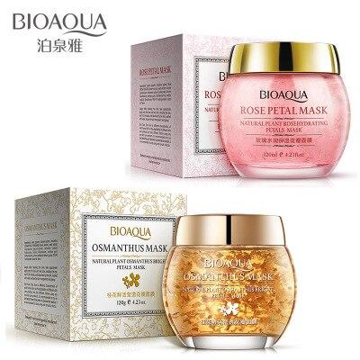 BIOAQUA Osmanthus Rose Flower Petals Deep Cleansing Moisturizing Whitening Oil Control Facial Skin Care Sleeping Mask 120ml
