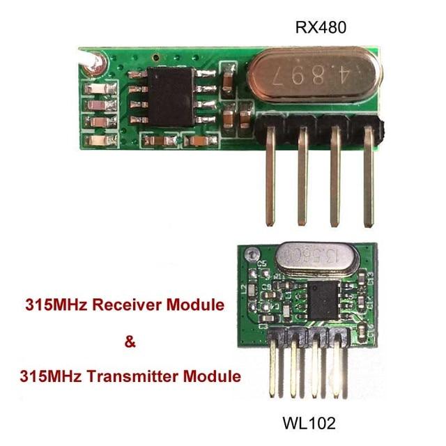 315 MHz RF transmisor y receptor superheterodyne UHF ask módulo de control remoto kit pequeño tamaño de baja potencia para Arduino/ ARM/MCU