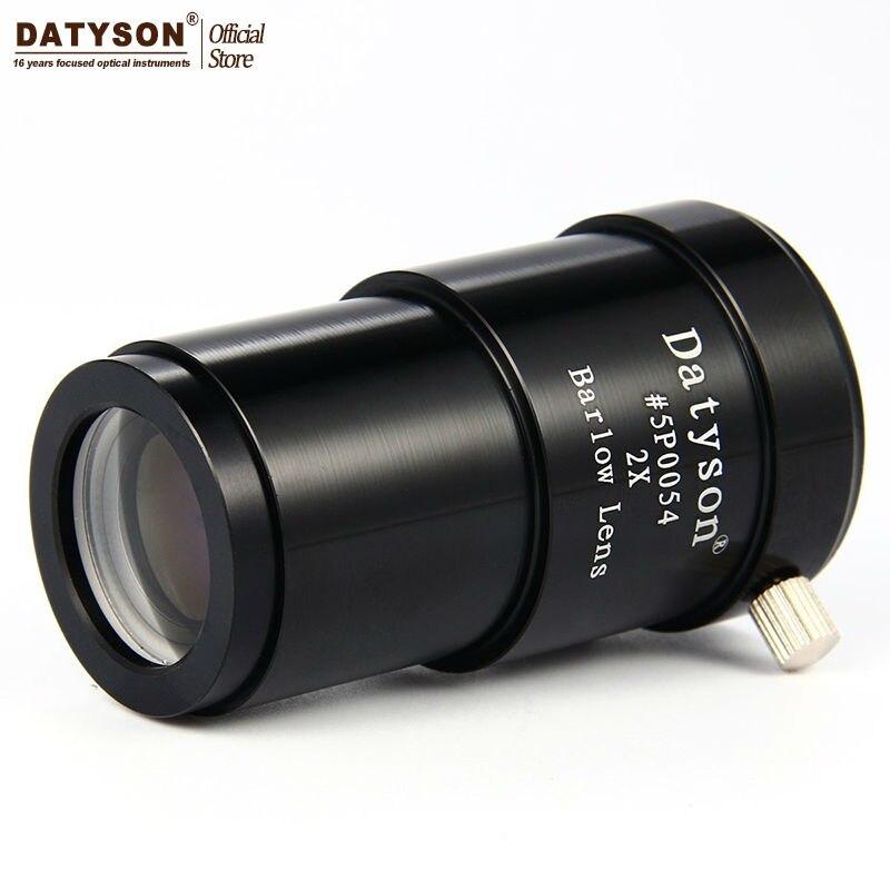 Barlow Lente Fully Totalmente Metal 2 Vezes Ampliação Ocular Telescópio Astronômico 2x 1.25