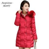 Ladies Winter Jacket Women Fur Hood Parka Cotton Padded Coat Female 2017 New Jaqueta Feminina Inverno