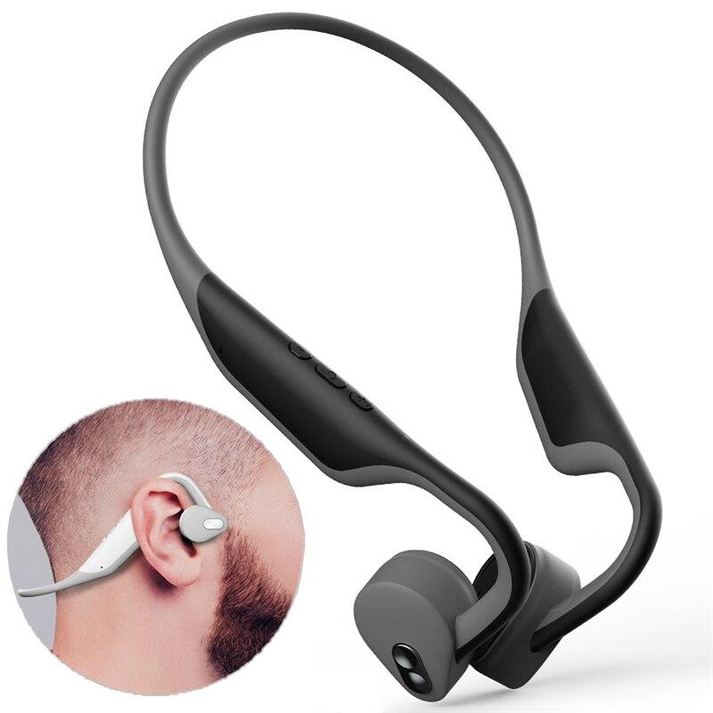 LEORY BH128 sans fil bluetooth 5.0 Conduction osseuse bluetooth stéréo casque mains libres Sport casque avec Microphone
