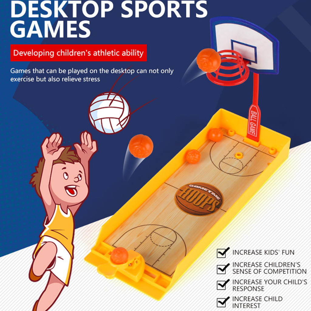 Basketball Shooting Game Stress Reliever Toys Sports Table Game Kids Educational Funny Gadgets Anti-stress Toys for Children