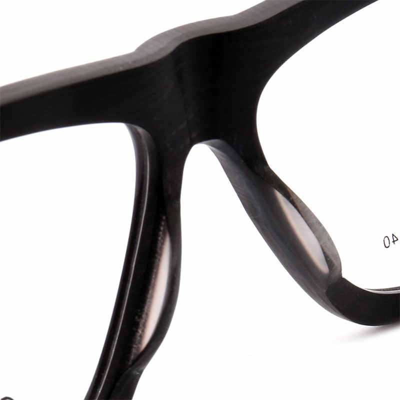 2ff5f2da5d ... MUZZ Men Eyeglasses Frame Wood Grain Retro Oversized Male Optical Men  Glasses Clear Acetate Glasses Frames ...