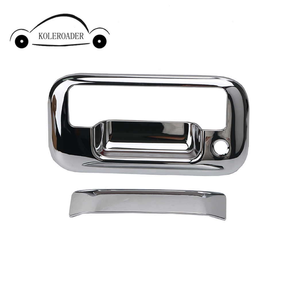 Triple chrome plated abs tailgate door handle cover for ford f150 2004 2014 car accessorise