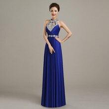 2016 lange a line royal blue rosa lila perlen plus größe Abendkleider Abendkleider Frauen Formale Mutter der Braut B45