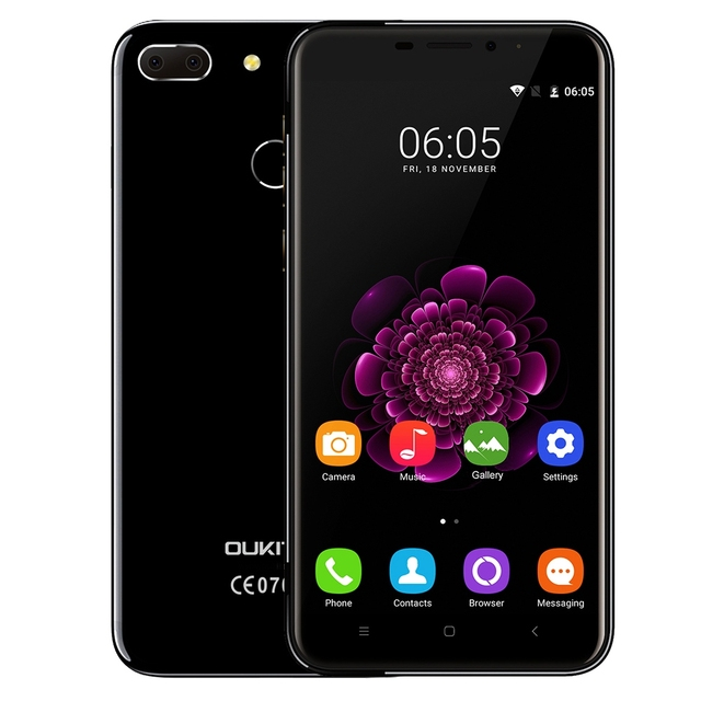 OUKITEL U20 Plus Dual Cameras 4G Smartphone 5.5'' IPS Screen Android 6.0 MTK6737 Quad Core Mobilephone 2GB+16GB 13MP Fingerprint