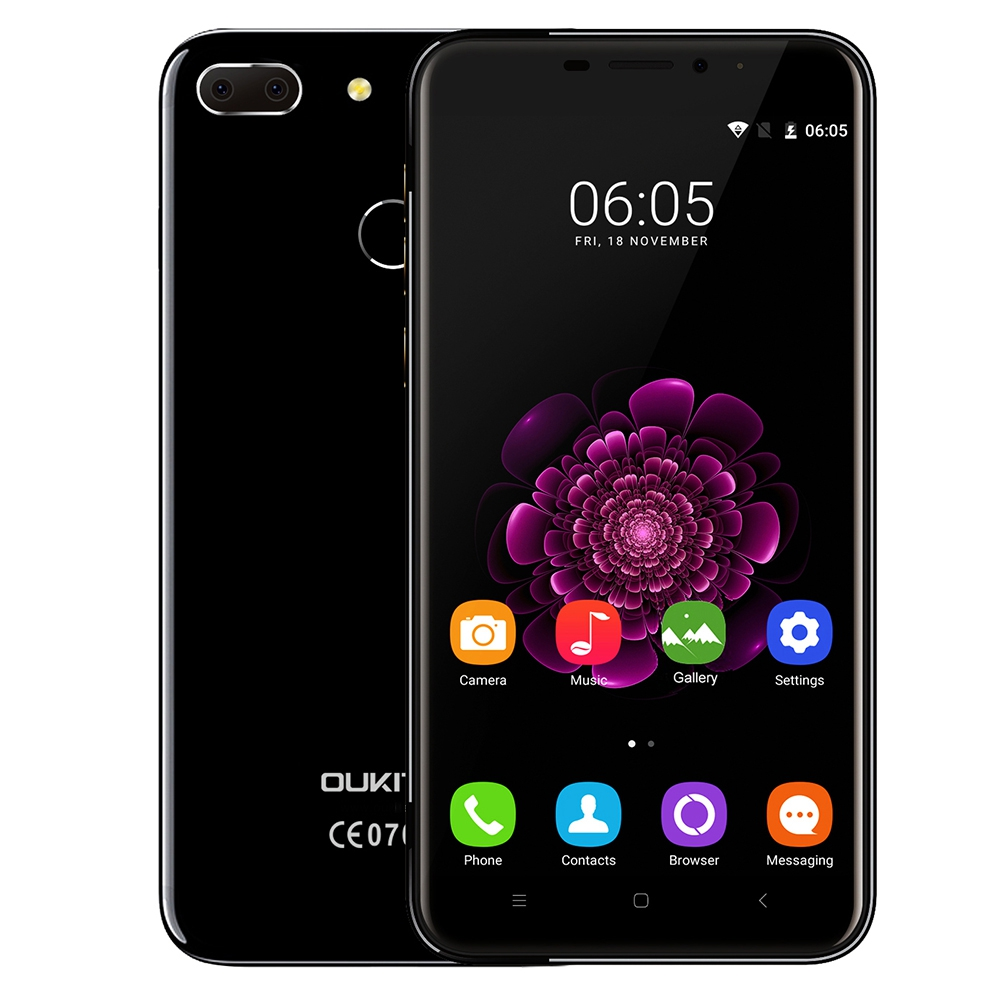 bilder für Oukitel u20 plus dual kameras 4g smartphone 5,5 ''ips bildschirm android 6.0 mtk6737 quad core handy 2 gb + 16 gb 13mp fingerabdruck
