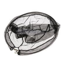 40cm Diameter Folding Mesh Circle Stainless Steel Frame Nylon Coarse Fishing Landing Net Head