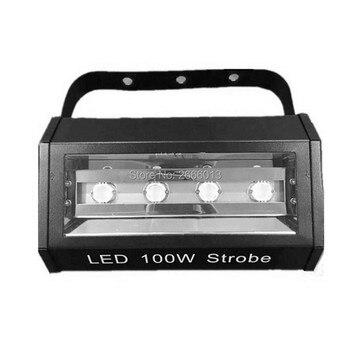 Lumière stroboscopique Niugul 100 W 4 LED, DMX/contrôle du son lampe stroboscopique blanche d'éclairage 100 W, lumière Flash d'étape de projecteur de partie à la maison de Disco DJ