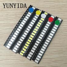 Yunyida 100 шт = 5 цветов x 20 smd 5730 5630 набор светодиодных