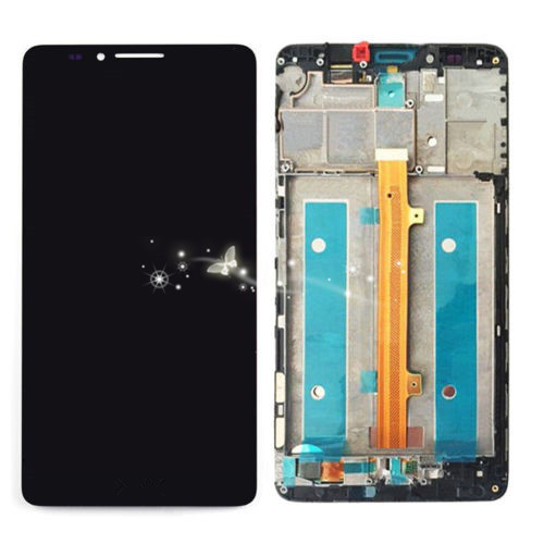 A LCD Display Digitizer Touch Screen Glass Assembly For Huawei Mate 7 with Frame free shipping