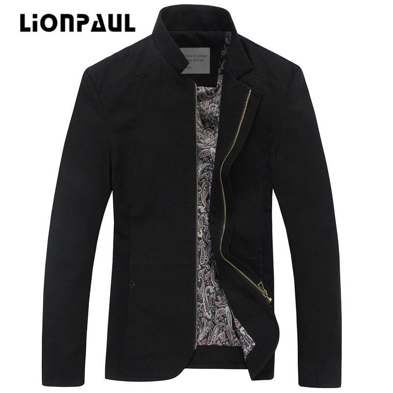 LIONPAUL új érkezési standard cipzár pamut rendszeres tavaszi és - Férfi ruházat