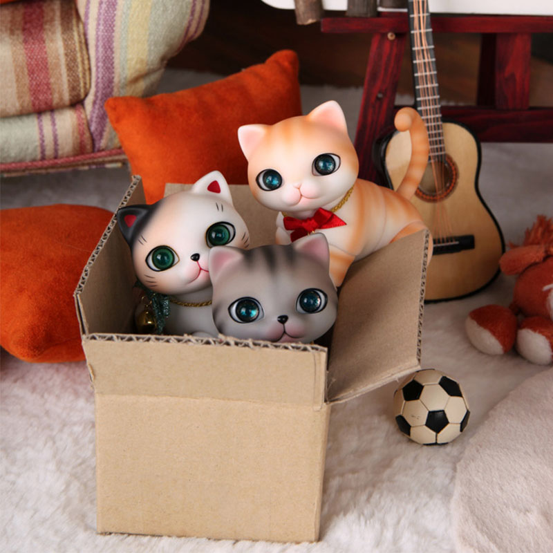 free shipping OUENEIFS zuzu nyang cat pet doll bjd sd resin figures ai yosd volks kit doll not for sales toy baby tsum reborn oueneifs bjd clothe sd doll 1 4 clothes girl boy baby long hooded jumpsuit hyoma chuzzl send socks luts volks iplehouse switch