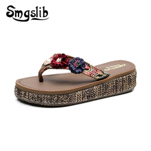 Woman Flip-flops Lady Fashion Casual Beach Sandals Home Slippers Women 2019 Summer Comfortable Sexy Flower Cane Flip-flops phyanic 2017 summer lady s flower flat sandals sexy casual fashion slippers female beach flip flops women shoes phy5151