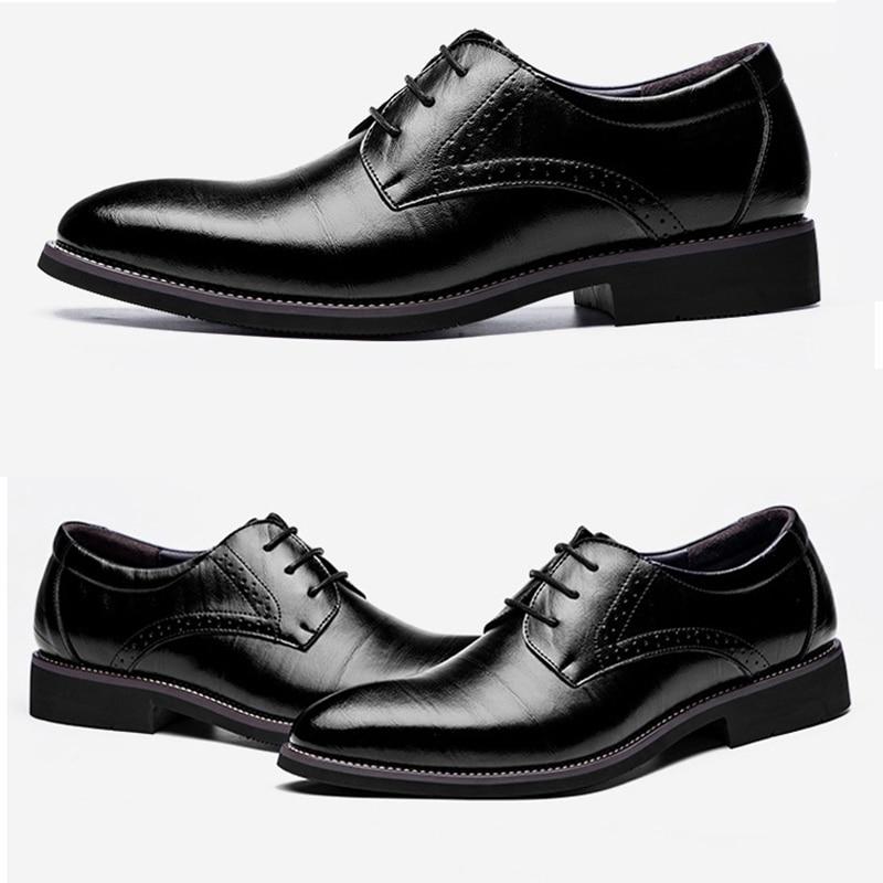 36572e620fbdc 2018 nowy wysokiej jakości prawdziwej skóry mężczyźni Brogues buty  sznurowane cielca biznes sukienka oksfordzie buty męskie mężczyzna formalne  buty w 2018 ...
