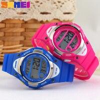 2015 Children Watch Outdoor Sports Kids Boy Girls LED Digital Alarm Stopwatch Waterproof Wristwatch Children S