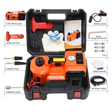 12V Car Electric Hydraulic Jack lifter Protable General Auto Tire Replacing Stand Impact Wrench Inflator Pump