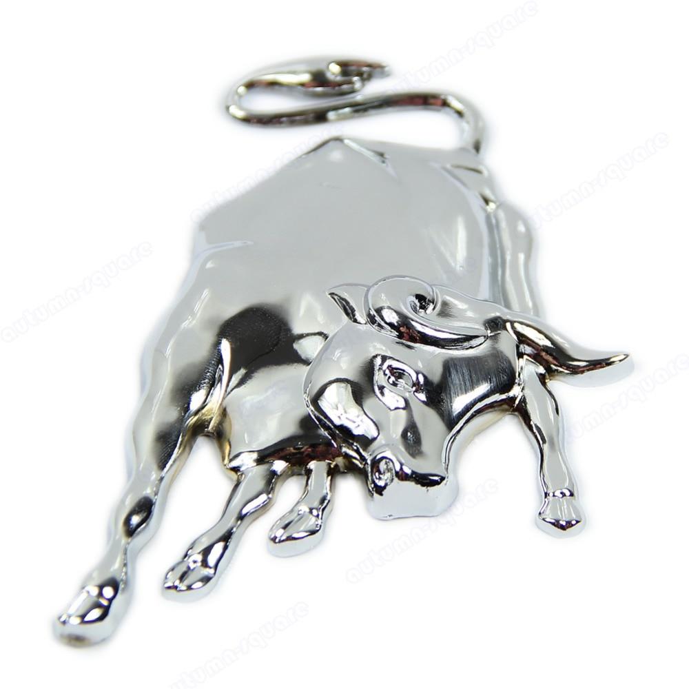 98.63руб. 15% СКИДКА|Новая 3D Серебристая хромированная металлическая эмблема Bull Ox, автомобильная наклейка на двигатель грузовика, автомобильная наклейка| | |  - AliExpress