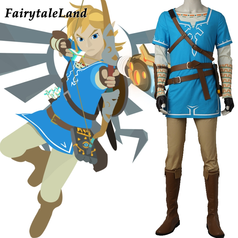 The Legend of Zelda Breath of the Wild Link Cosplay Costume Hot Game cosplay Halloween costume The Legend of Zelda Link suit
