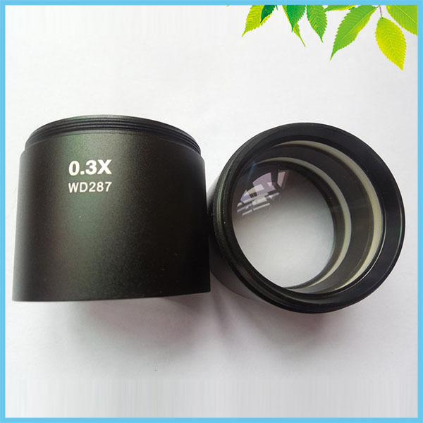 0.3X WD287 Auxiliary Lens Objective Lens For Stereo Microscope Parts Accessories fyscope szm 0 5x auxiliary objective lens for stereo zoom microscope wd 177mm