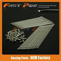 18 Rear Wheel Stainless Steel Spokes Nipples CR125 CR250 CR500 CRF250R CRF450R CRF250X CRF450X CR CRF Dirt Bike Motocross