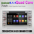 Quad Core  Silver 1024*600 Android 5.1.1 Car DVD GPS For Ford Mondeo/Fiesta/Kuga Navigation+3G+Wifi+CapacitiveTouch+Radio Audio