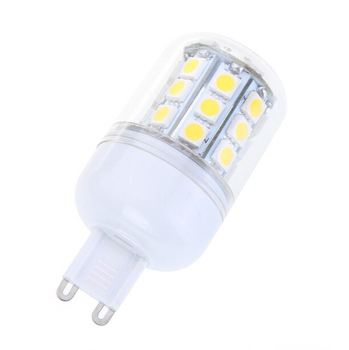 E27 E14 G9 SMD 5050 LED Corn Light Bulb 110V 220V 5W Warm White / White With Glass Cover For Chandelier Lighting
