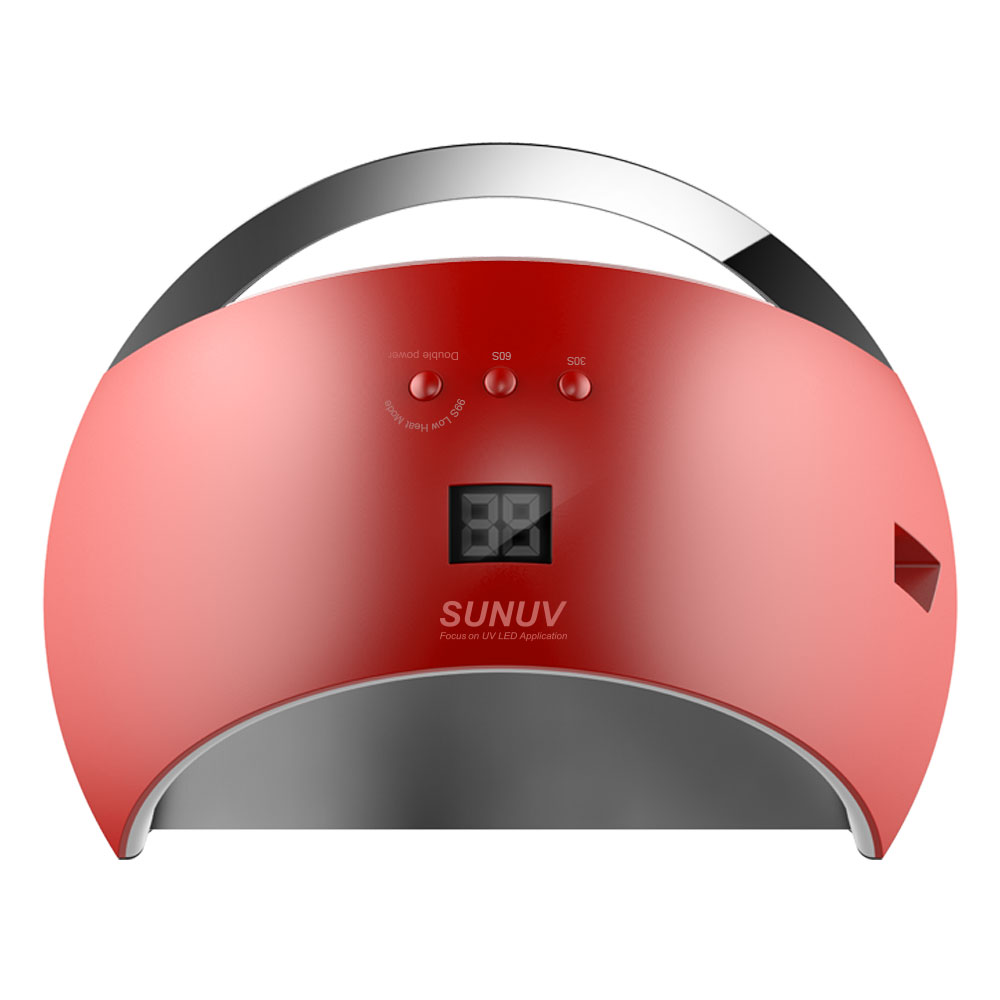 SUNUV SUN6 Sensor Smart Lamp Nail LED UV Nail Dryer Metal Bottom LCD Timer Multicolors for Curing UV Gel Polish Nail Art Tools