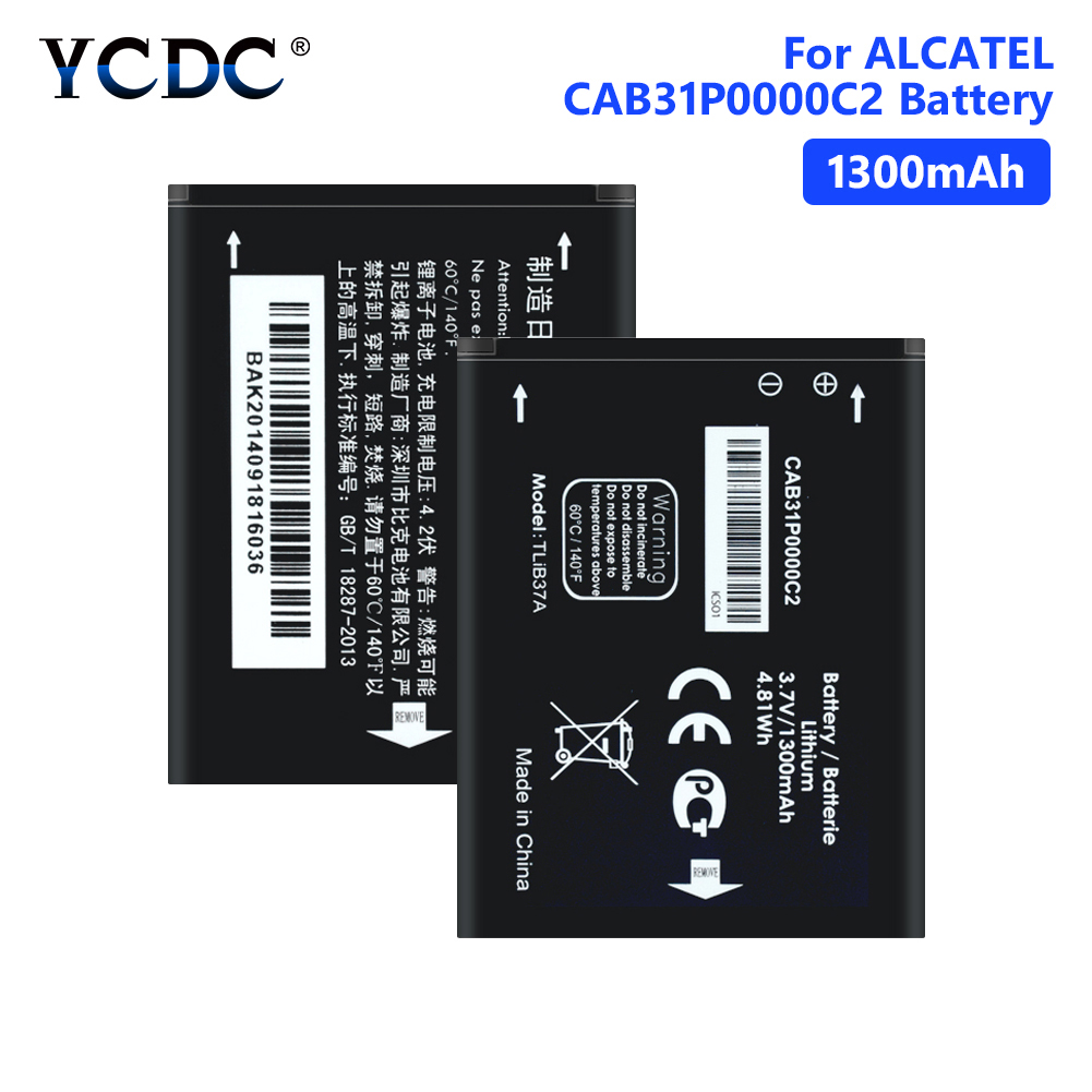 1300mAh Replacement TLi014A1 CAB31P0000C1 Battery For <font><b>Alcatel</b></font> <font><b>one</b></font> <font><b>touch</b></font> 4033D 4032D POP C3 <font><b>Pixi</b></font> <font><b>4007D</b></font> BY71 Smartphone Batterie image
