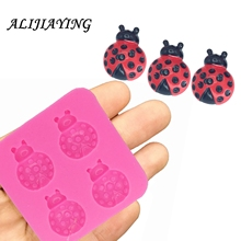 Insect Ladybug Sugarcraft silicone mold Branch fondant mould cake decorating tools chocolate dessert tool DY0022