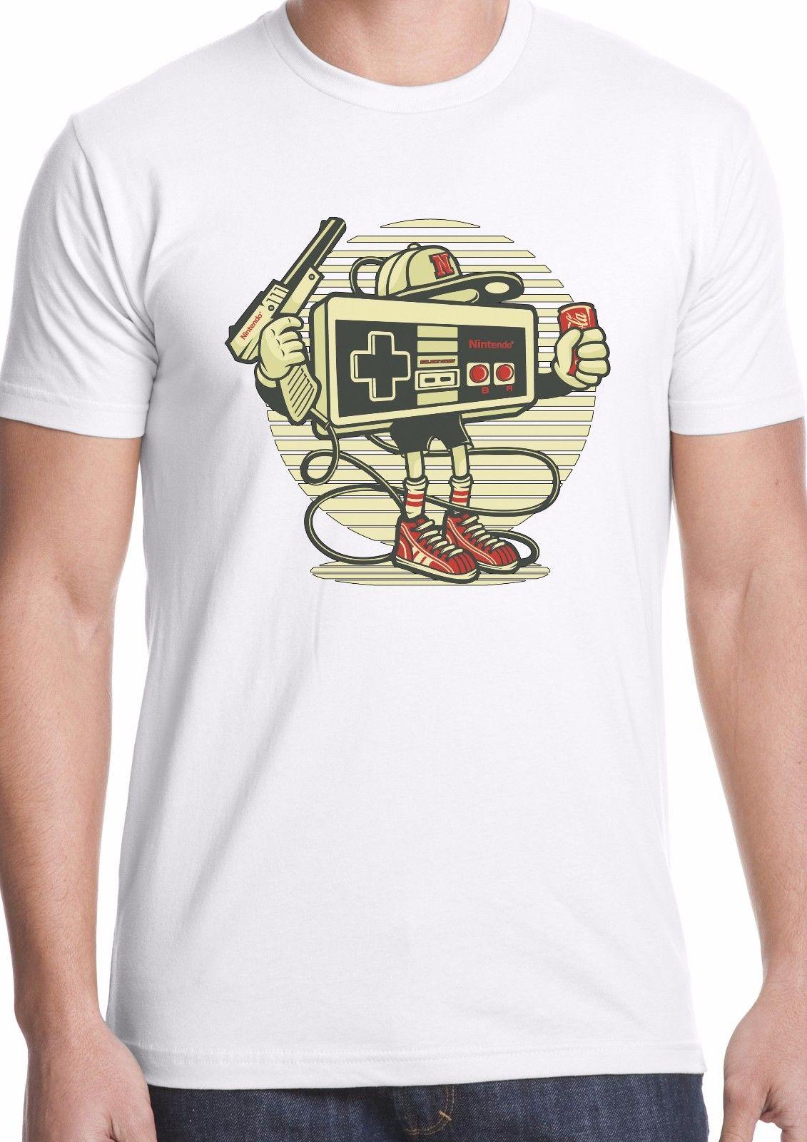 Nintendo t-shirt retro gaming pad Zelda Mario nes snes game computer console Summer Men'S fashion Tee,Comfortable t shirt