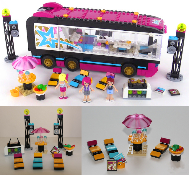 New heartlake Pop Star Tour Bus fit legoings friends figures city building blocks bricks toy 41106 girls diy toys gift kid set gonlei 10407 friends pop star tour bus building blocks sets bricks toys girl game house gift compatible with