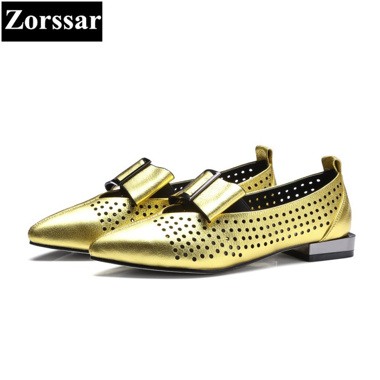 {Zorssar} Fashion bow-tie women pumps pointed toe high heels soft leather slip-on low heel shoes woman summer shoes casual nayiduyun women genuine leather wedge high heel pumps platform creepers round toe slip on casual shoes boots wedge sneakers