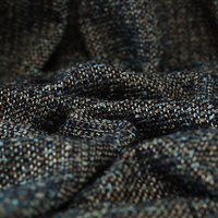 145CM Wide 490G/M Weight Multi Color Knitted Tweed Wool Viscose Fabric for Autumn and Spring Coat Jacket Dress E888