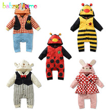 0 18Months Spring Autumn Baby Costume Infant Boys Girls Rompers Cartoon Cute 100 Cotton Animal Jumpsuit