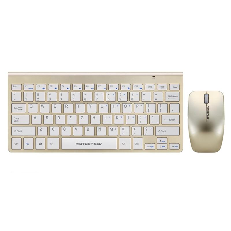 Nouveau Motospeed Ultra mince 2.4G sans fil clavier souris Combo pour IPAD MAC ordinateur portable TV boîte ordinateur PC tablette avec USB dongle G9800