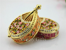 Smart Wedding Gift Home Decorative Box Musical Instrument Chinese Lute Pipa Trinket Box Jewelry Collective Box