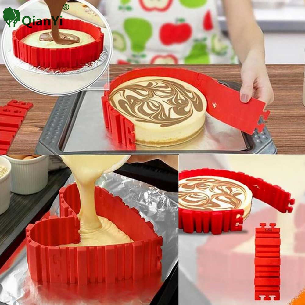 4Pcs/1 set Food Grade Silicone Bake Cake Snakes Mold Magic Bake Stitch Any shape Bake Diy All Kinds of Cake Mould Baking Tools