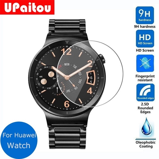 huawei w1. upaitou glass for huawei watch w1 tempered screen protector safety protective film