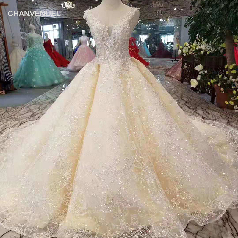 LSS244 simple summer wedding dress sleeveless lace up v-back bride dresses  for wedding party 3b59d1dab543