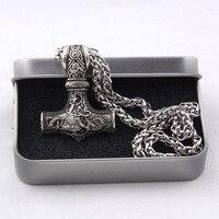 Dropshiping 1 Pcs Huge Thor Hammer Mjolnir Viking Amulet Hammer Scandinavian Pendant Norse Jewelry With Viking
