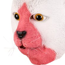 Hot Sale Cute Cartoon Creative Fun Adult Mask Mask Halloween Latex Cat Mask Animal Head Festival Party Mask(China)