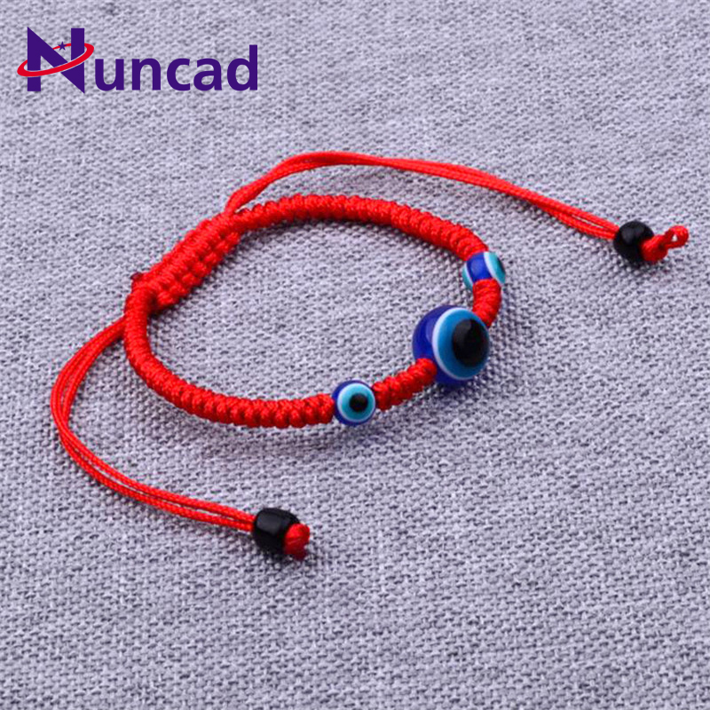 2017 New Lucky Red Rope Strings Thread Women Bracelets Resin Beads Blue Eyes Couples Lovers Chakra Bracelets Gifts