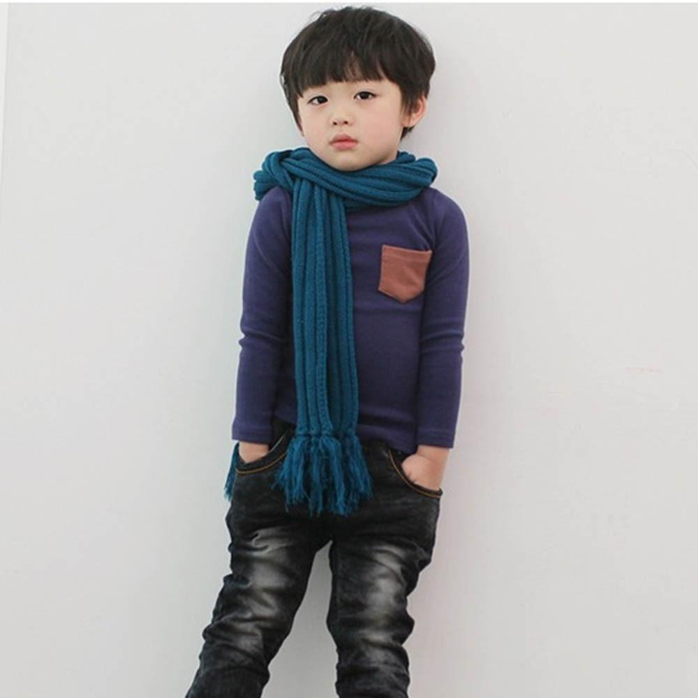 Toddler Baby Long Sleeve Crewneck T shirt Pocket Deco Boy Girl Shirt Top Clothes