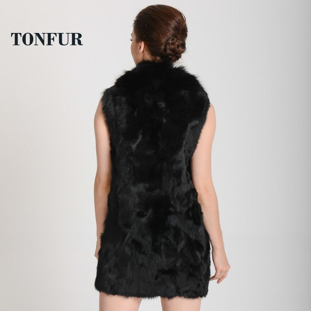 Féminine Femmes Hiver Tah388 La Lapin Luxury Chaud Real Fourrure Naturel Livraison Renard De Mode Avec Véritable Gratuite Gilet Col CpvqZB1W