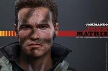 цена на For Collection 1/6 Hot Toys MMS276 Commando Devil Commander John Arnold John Matrix Arnold Schwarzenegger Full Set Action Figure