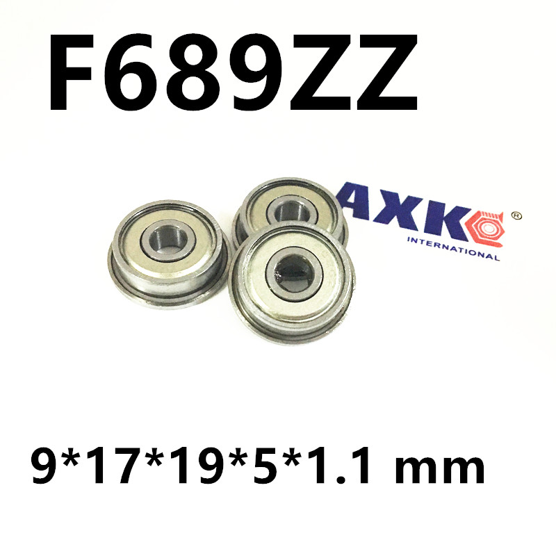 free shipping flange bearing Thin wall deep groove ball bearings F689ZZ 9*17*19*5*1.1 mm (9X17X5) 30pcs lot f689zz f689 zz 9x17x5mm flange bearing thin wall deep groove ball bearing mini ball bearing
